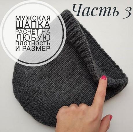 Инструкция по расчету на любой размер и любую плотность мужской шапки