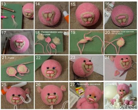 Как связать мишку спицами