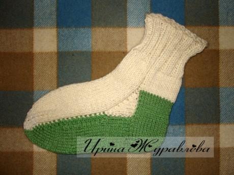 Носки со сменной подошвой, мастер - класс!