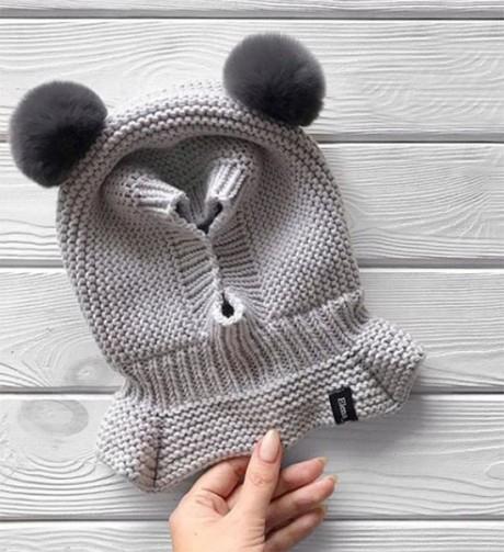 Как связать шапку - шлем спицами