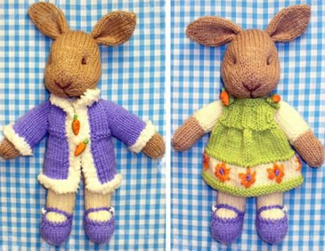 Кролики в одежке