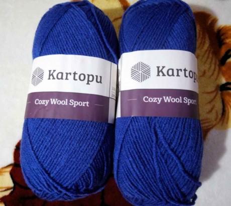 Пряжа Kartopu Cozy Wool Sport (Картопу Кози Вул Спорт)