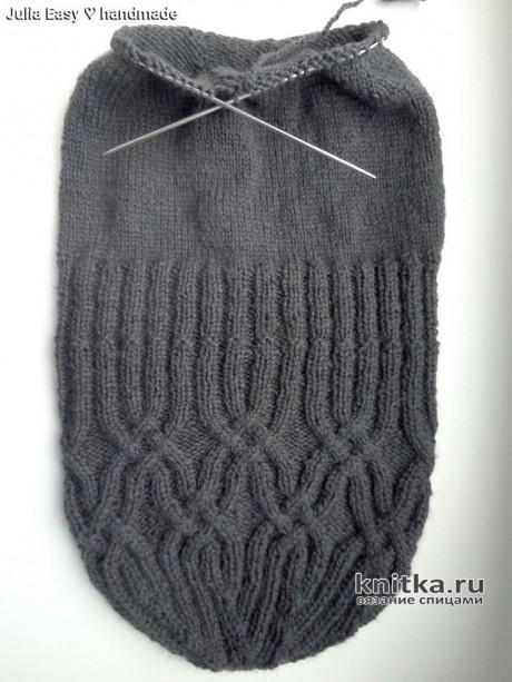 Двойная шапка с кельтским узором. Работа Julia Easy вязание и схемы вязания