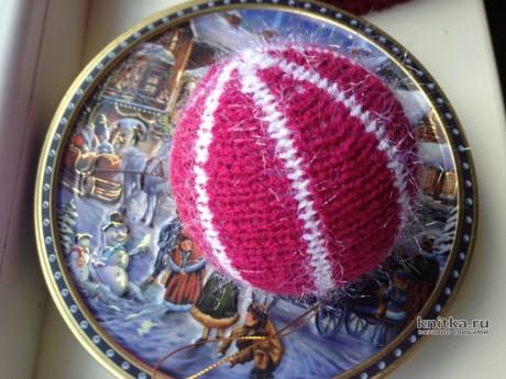 Ёлочный шарик крючком. Работа Myrka_FM вязание и схемы вязания