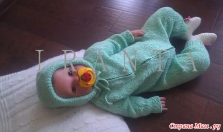 Как легко и просто связать спицами комбинезон для новорожденного, мастер - класс