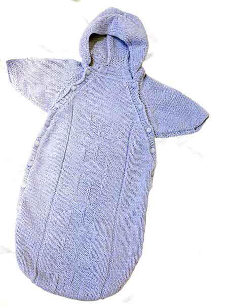 Конверт спицами для новорожденных