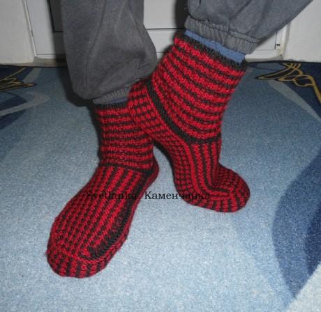 Мужские носки с ленивым жаккардом