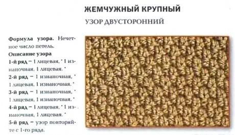 схема узора для вязания из толстой пряжи