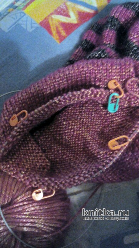 Двойная шапочка спицами. Работа Светланы Норман вязание и схемы вязания
