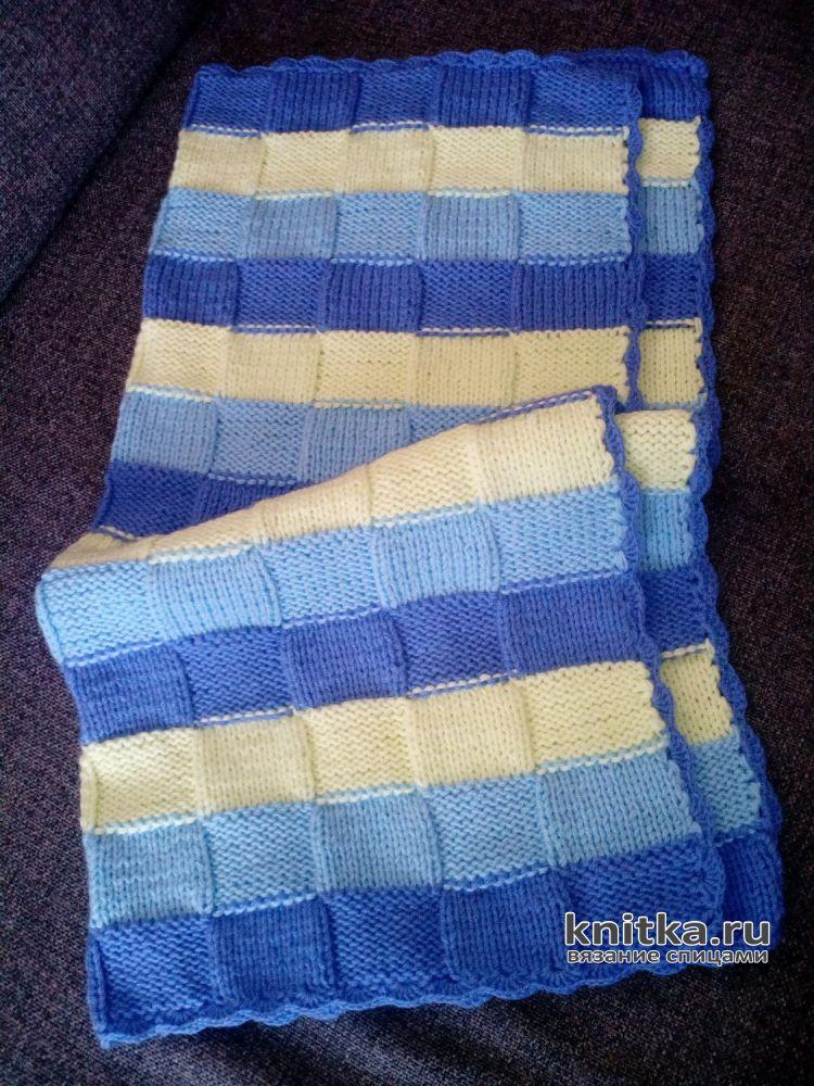 покрывало для малыша спицами работа елены беляевой вязание для детей