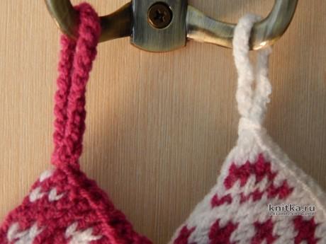 Прихватки спицами. Работа Myrka_FM вязание и схемы вязания