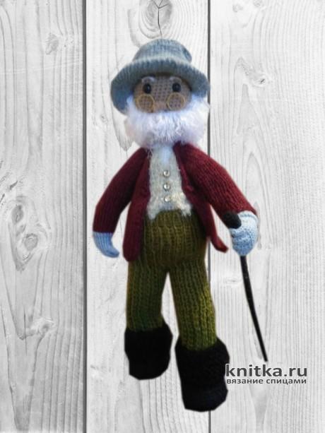 Вязаная игрушка Пожилой джентельмен. Работа Веры вязание и схемы вязания