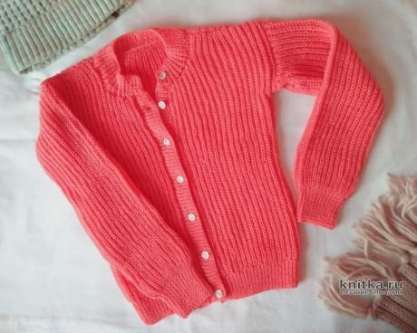 Женский вязаный пуловер с воротом лодочка. Работа Вагановой Татьяны вязание и схемы вязания