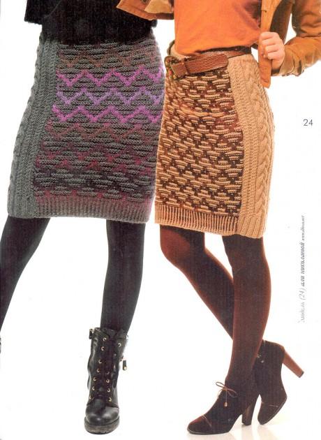 Схемы жаккардовой юбки