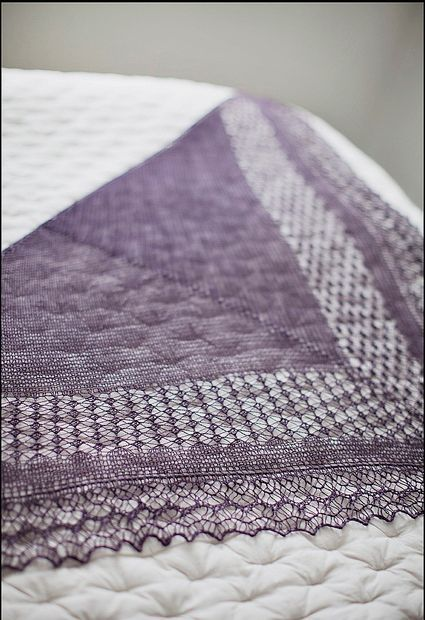 Схемы вязания шали Rock Island by Jared Flood