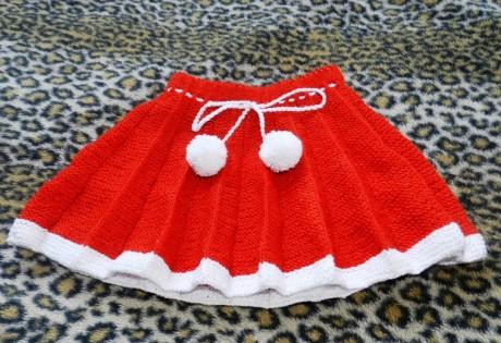 Схема красной юбки в складку