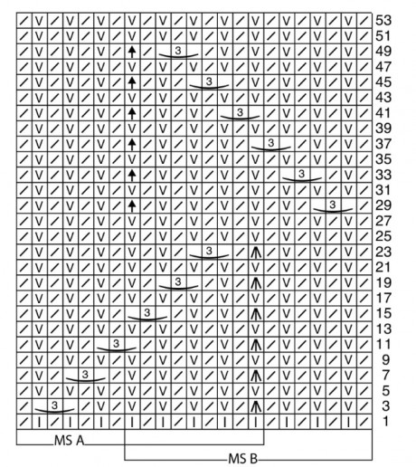 схема рельефного узора в технике бриошь