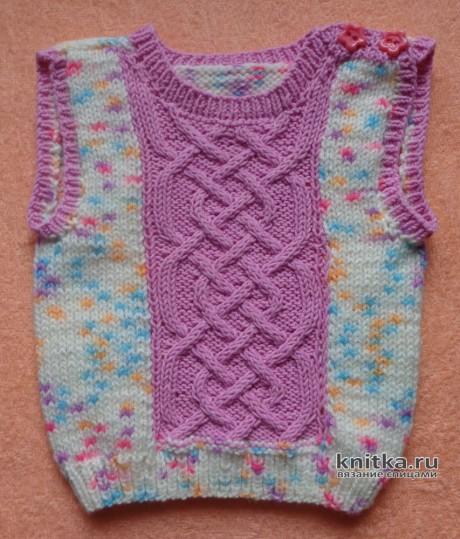 Детский жилет с аранами. Работа Elena вязание и схемы вязания