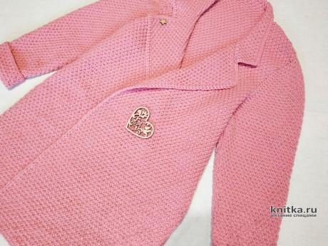 Модный кардиган спицами. Работа AlenaVerkhovod вязание и схемы вязания
