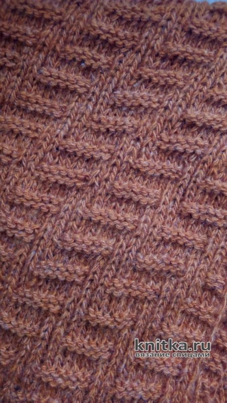 Шапка бини и снуд спицами. Работы Валерии вязание и схемы вязания