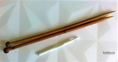 Шапка спицами из одного мотка пряжи. Работа Галмика вязание и схемы вязания