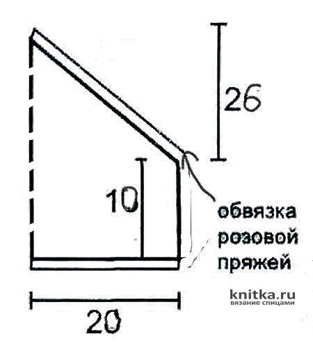 Вязаная летняя косынка для девочки 4-5 лет. Работа Галмика вязание и схемы вязания