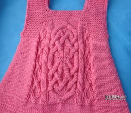 Вязанный спицами сарафан для девочки. Работа Elena вязание и схемы вязания