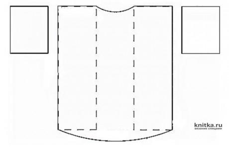 Яркая теплая туника спицами. Работа Галмика вязание и схемы вязания