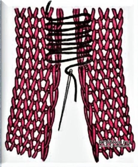 Женская шапочка спицами. Работа Галмика вязание и схемы вязания