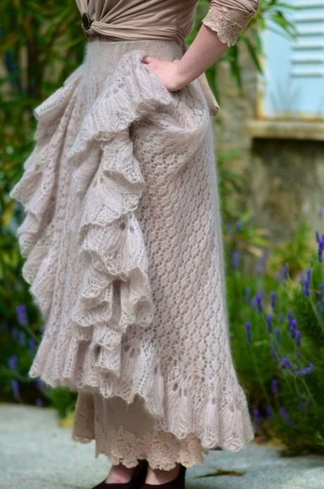 Красивая юбка спицами со схемами