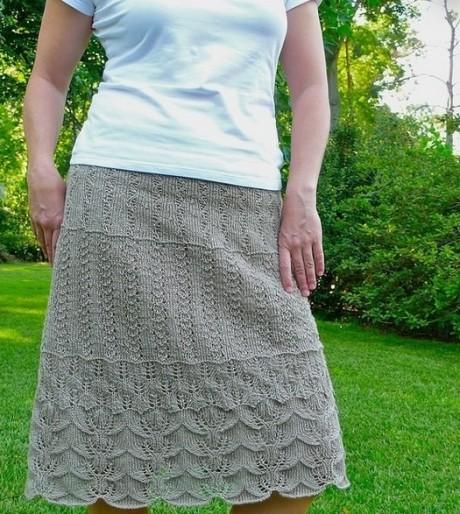 Схемы ажурной многослойной юбки