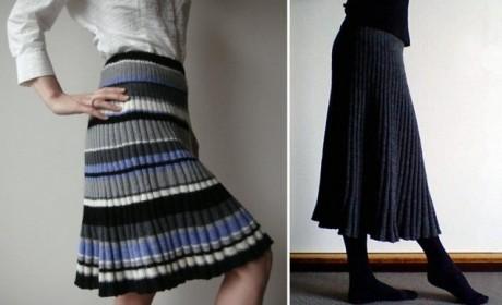 Японо-болгарская юбка клёш, схемы вязания