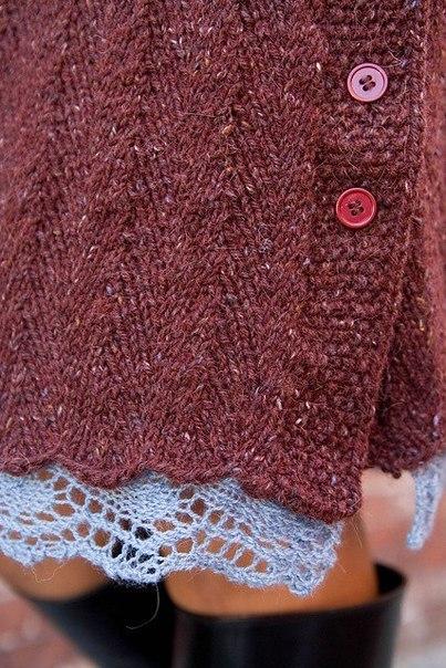 Схемы юбки с ажурным краем