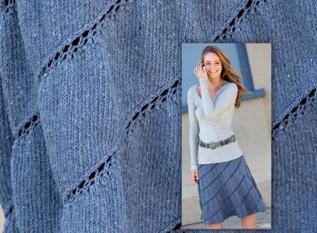Схемы юбки, связанной вкруговую