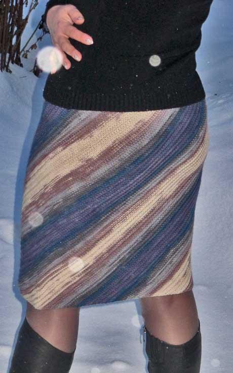 схемы полосатой юбки Фейерверк красок