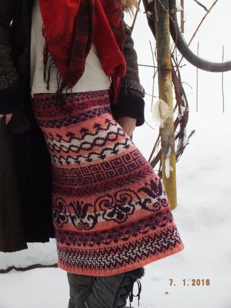 Схемы вязания жаккардовой юбки, мастер - класс