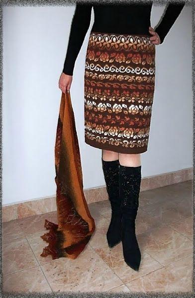 Схемы жаккардовой юбки из Кауни