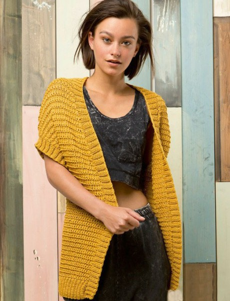Mustard color sleeveless with scheme