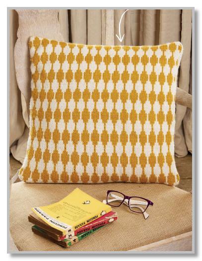 Чехол на подушку, вязание для дома