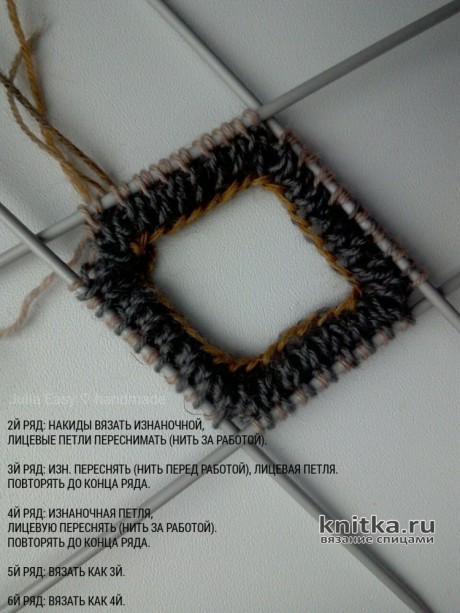 Фабричный наборный край, вязание спицами вязание и схемы вязания