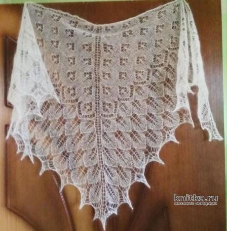 Вязаная шаль из кид-мохера. Работа Александры Миличенко вязание и схемы вязания