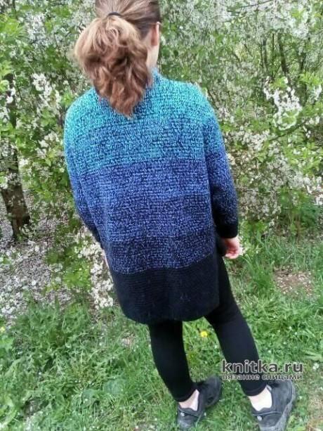 Вязаный свитер для девочки. Работа Татьяны Ивановны вязание и схемы вязания