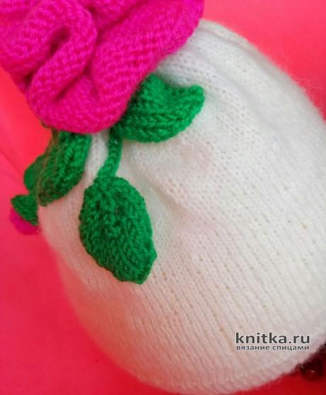 Детская шапочка Роза. Работа Ольги вязание и схемы вязания