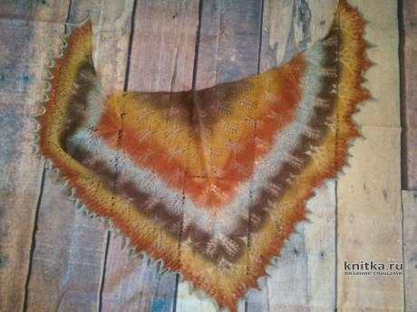 Две шали Замерзшие листья. Работы Александры Миличенко вязание и схемы вязания