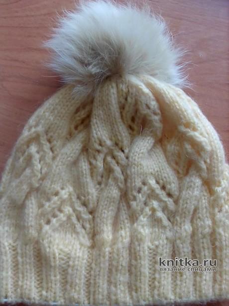 Комплект из вязаной шапки и шали. Работа Оксаны вязание и схемы вязания