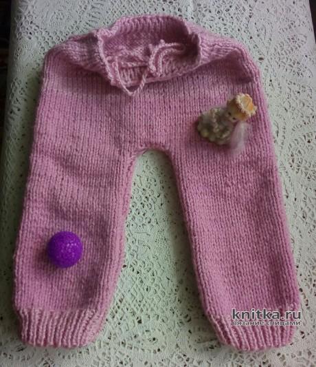 Вязаные детские штанишки спицами. Работа Валерии вязание и схемы вязания