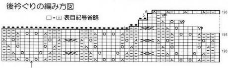 Схема вязания красивого жилета спицами