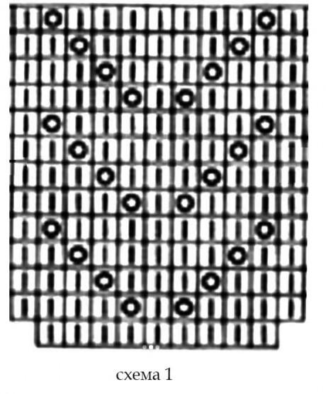 Схемы вязания топа спицами