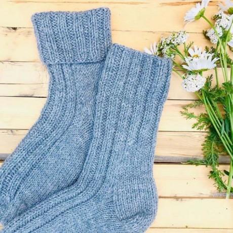 Как связать носки резинкой 2 х 2