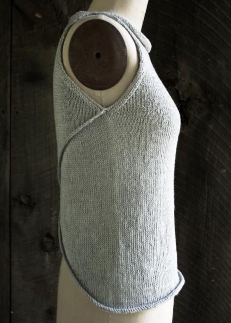 Вязание ассиметричной безрукавки